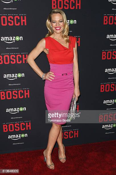 Actress Jeri Ryan attends the Premiere Of Amazon's Bosch Season 2 held at the SilverScreen Theater at the Pacific Design Center on March 3 2016 in...