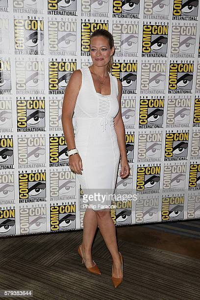 Actress Jeri Ryan attends the 'Star Trek 50' press line during ComicCon International 2016 on July 23 2016 in San Diego California