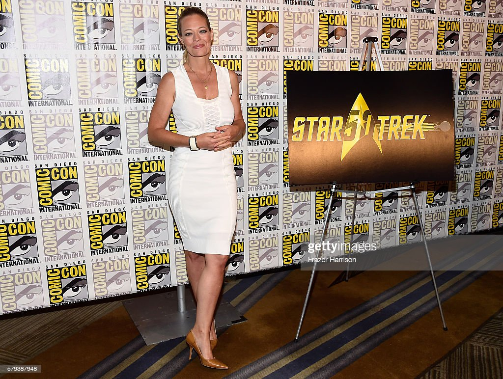 Actress Jeri Ryan attends the 'Star Trek 50' press line during Comic-Con International on July 23, 2016 in San Diego, California.