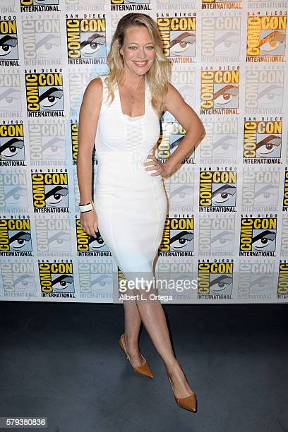 Actress Jeri Ryan attends the 'Star Trek' panel during ComicCon International 2016 at San Diego Convention Center on July 23 2016 in San Diego...