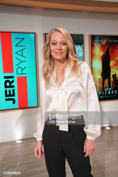 Actress Jeri Ryan visits The Talk Thursday February 20 2020 on the CBS Television Network