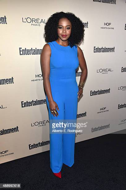Actress Jerrika Hinton attends the 2015 Entertainment Weekly Pre-Emmy Party at Fig & Olive Melrose Place on September 18, 2015 in West Hollywood,...