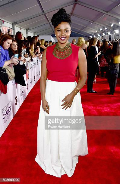 Actress Jerrika Hinton attends the People's Choice Awards 2016 at Microsoft Theater on January 6 2016 in Los Angeles California