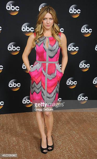 Actress Jes Macallan arrives at the 2014 Television Critics Association Summer Press Tour Disney/ABC Television Group at The Beverly Hilton Hotel on...