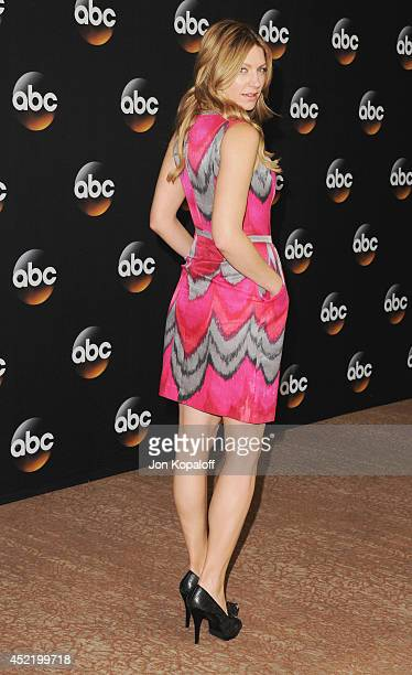 Actress Jes Macallan arrives the Disney|ABC Television Group 2014 Television Critics Association Summer Press Tour at The Beverly Hilton Hotel on...