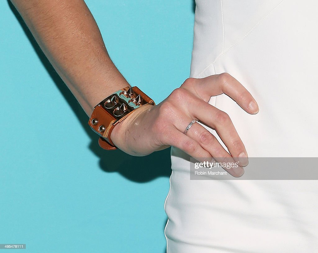 Actress Jes Macallan (accessories detail) attends Summer Shake-Up Movie Blend Series at Intrepid Sea-Air-Space Museum on June 3, 2014 in New York City.