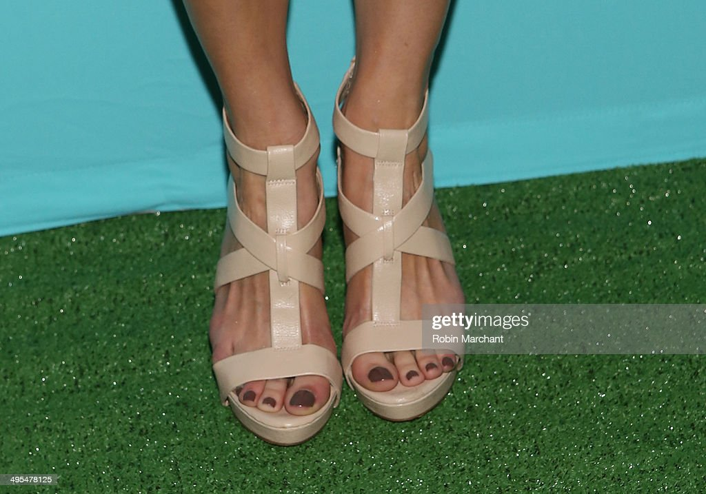 Actress Jes Macallan (shoe detail) attends Summer Shake-Up Movie Blend Series at Intrepid Sea-Air-Space Museum on June 3, 2014 in New York City.