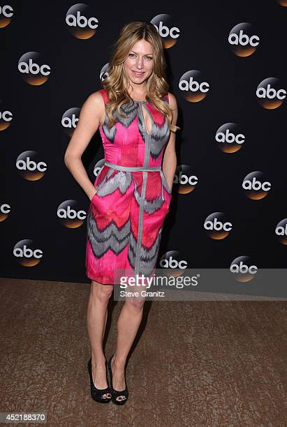 Actress Jes Macallan attends the Disney/ABC Television Group 2014 Television Critics Association Summer Press Tour at The Beverly Hilton Hotel on...