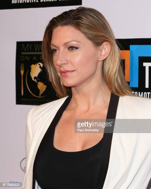 Actress Jes MaCallan attends the trophy celebration benefiting the MakeAWish Foundation on February 11 2018 in Los Angeles California