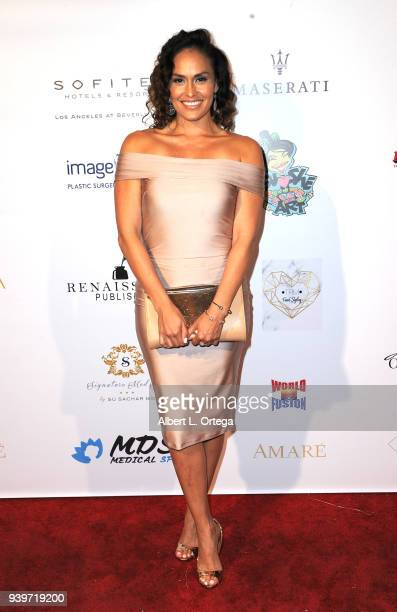 Actress Jes Meza arrives at the Amare Magazine Celebration for Their Music And Art Issue held at Riviera 31 on March 28 2018 in Los Angeles California