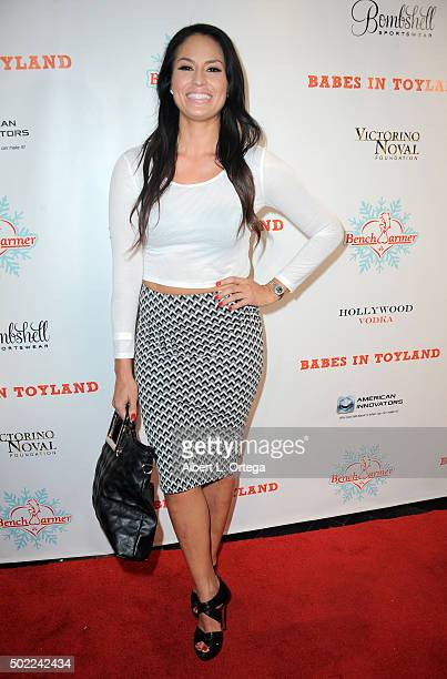 Actress Jes Meza arrives for the 2015 Babes In Toyland And BenchWarmer Charity Toy Drive held at Avalon on December 9 2015 in Hollywood California