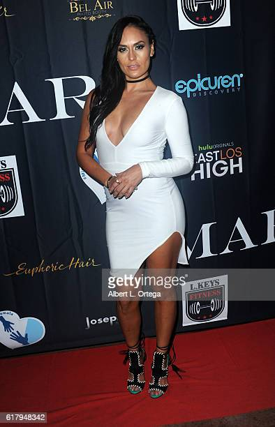 Actress Jes Meza attends the Amare Magazine 2nd Issue Party featuring the cast of Hulu's 'East Los High' held at Federal Bar on October 24 2016 in...