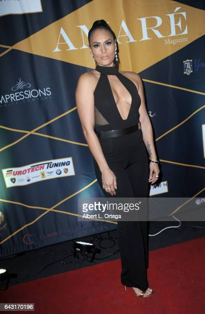 Actress Jes Meza attends the Amare Magazine's Winter Soiree 3rd Issue Launch held at EnVy Lounge on February 19 2017 in Newport Beach California