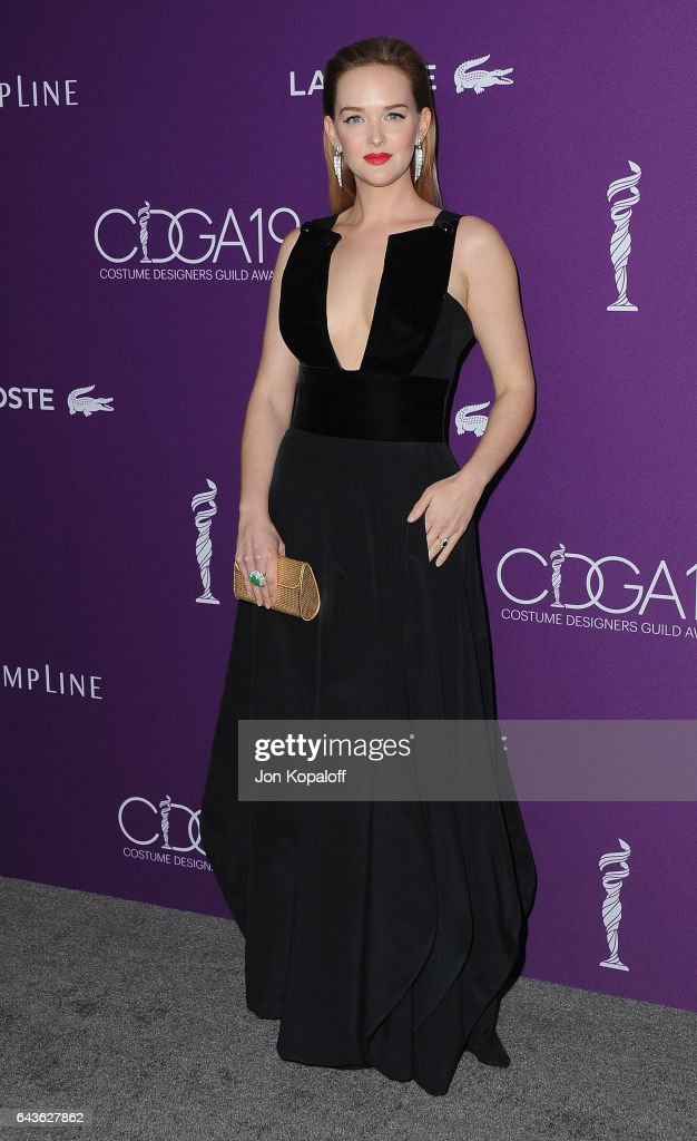 Actress Jess Weixler arrives at the 19th CDGA (Costume Designers Guild Awards) at The Beverly Hilton Hotel on February 21, 2017 in Beverly Hills, California.