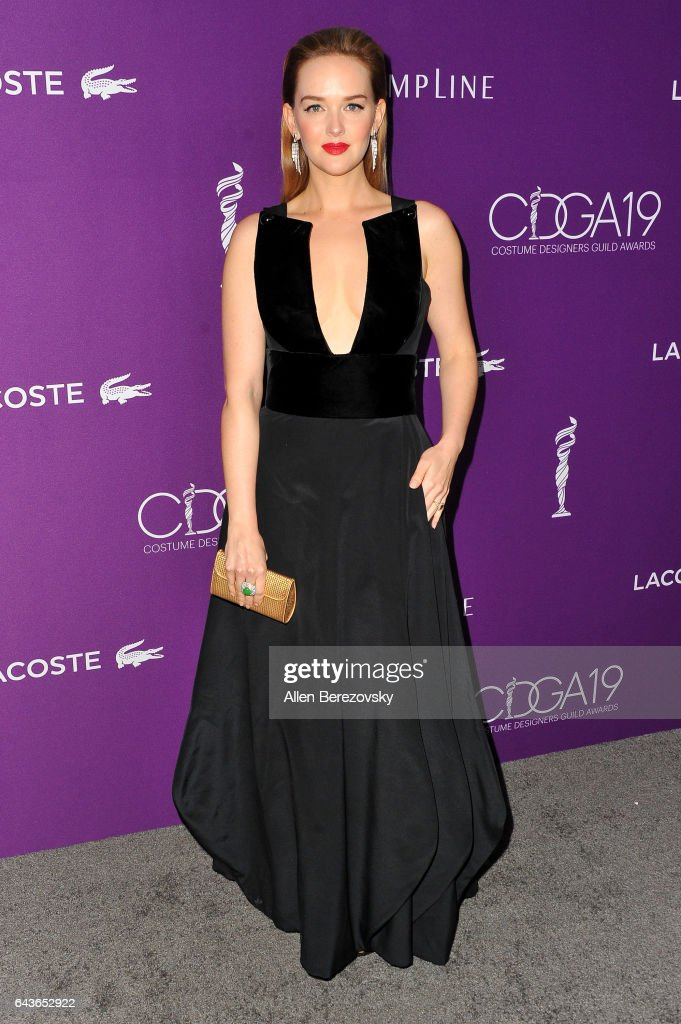 Actress Jess Weixler attends the 19th CDGA (Costume Designers Guild Awards) at The Beverly Hilton Hotel on February 21, 2017 in Beverly Hills, California.