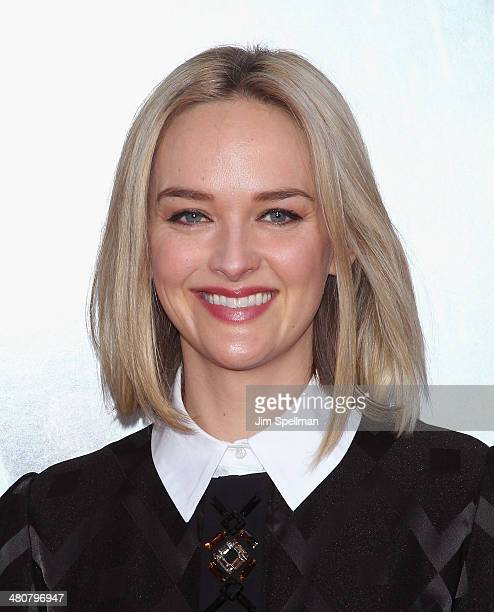 Actress Jess Weixler attends the 'Noah' New York Premiere at Ziegfeld Theatre on March 26 2014 in New York City