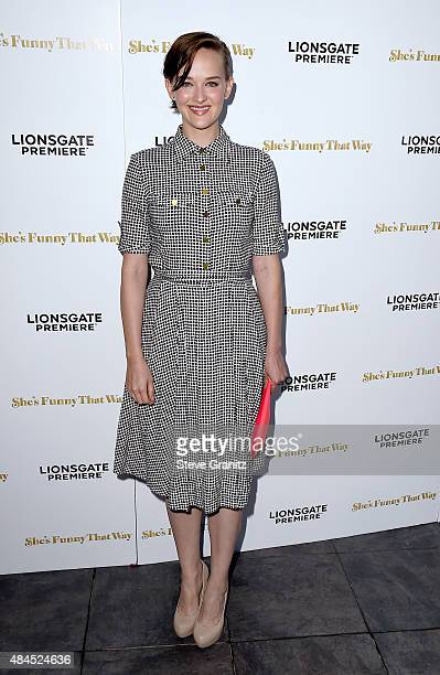 Actress Jess Weixler attends the premiere of Lionsgate Premiere's She's Funny That Way at Harmony Gold on August 19 2015 in Los Angeles California