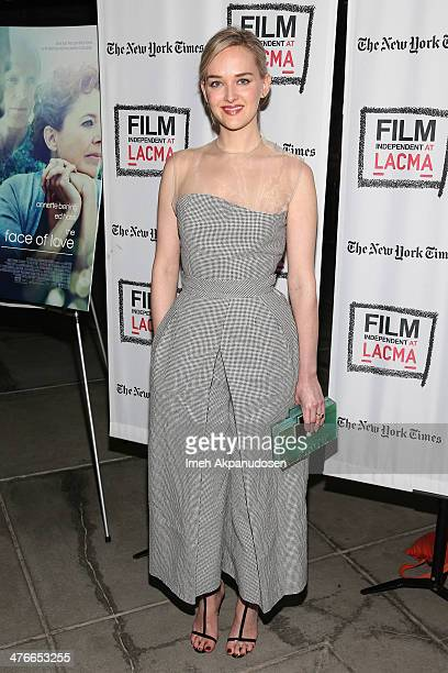 Actress Jess Weixler attends the screening of IFC Films' 'The Face Of Love' at LACMA on March 3 2014 in Los Angeles California