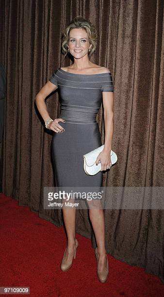Actress Jessalyn Gilsig arrives at the 12th Annual Costume Designers Guild Awards at The Beverly Hilton hotel on February 25 2010 in Beverly Hills...