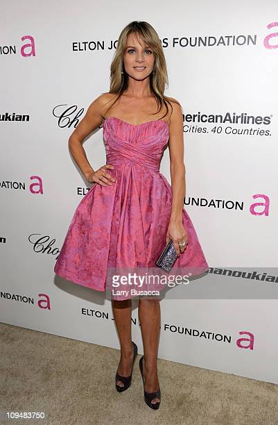 Actress Jessalyn Gilsig arrives at the 19th Annual Elton John AIDS Foundation Academy Awards Viewing Party at the Pacific Design Center on February...