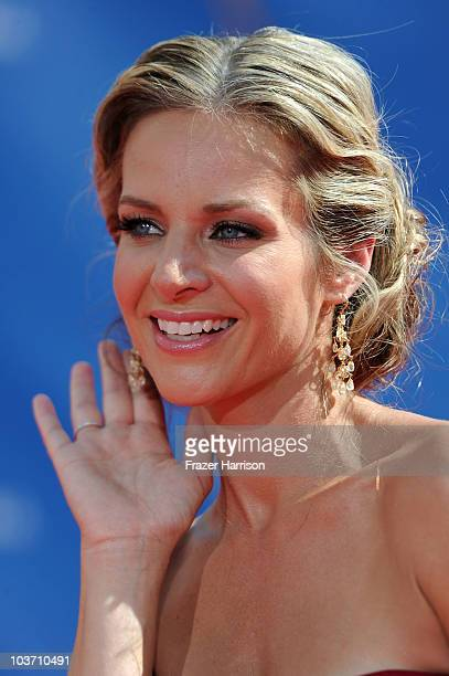 Actress Jessalyn Gilsig arrives at the 62nd Annual Primetime Emmy Awards held at the Nokia Theatre LA Live on August 29 2010 in Los Angeles California