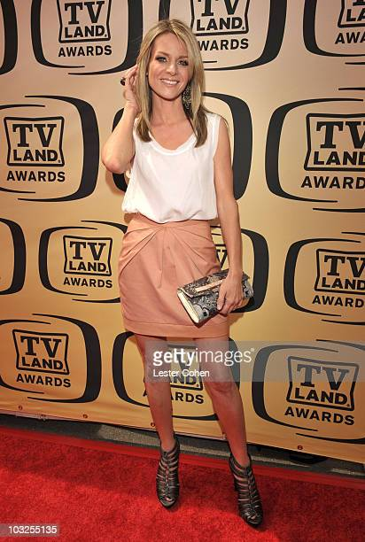 Actress Jessalyn Gilsig arrives at the 8th Annual TV Land Awards at Sony Studios on April 17 2010 in Los Angeles California