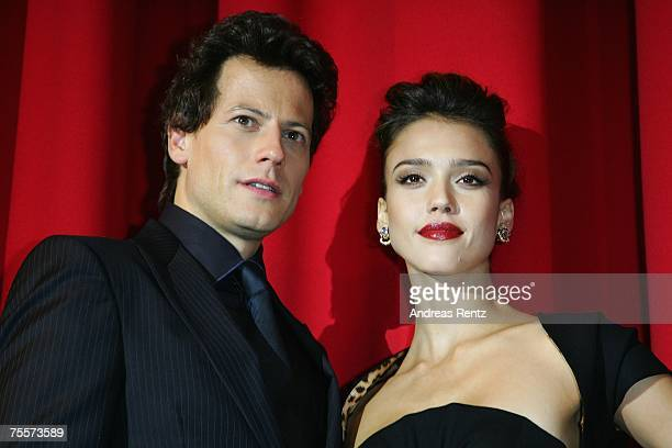 Actress Jessica Alba and actor Ioan Gruffudd attend the 'Fantastic Four - Rise Of The Silver Surfer' premiere on July 20, 2007 in Berlin, Germany.