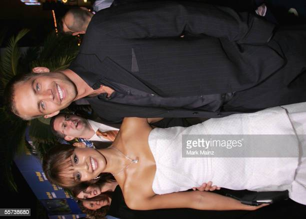 Actress Jessica Alba and actor Paul Walker attend the premiere of Sony Pictures Into the Blue at the Mann Village Theatre on September 21 2005 in...