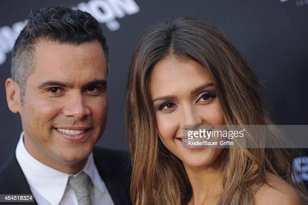 Actress Jessica Alba and Cash Warren arrive at the Los Angeles premiere of 'Sin City A Dame To Kill For' at TCL Chinese Theatre on August 19 2014 in...