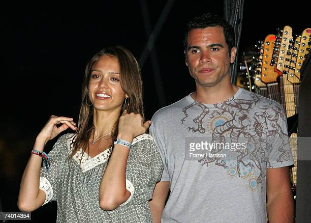 Actress Jessica Alba and friend attend day 1 of the Coachella Music Festival held at the Empire Polo Field on April 27 2007 in Indio California