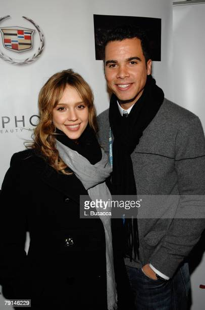 Actress Jessica Alba and Cash Warren attend the Made In America Dinner at the Hollywood Life House on January 20 2008 in Park City Utah