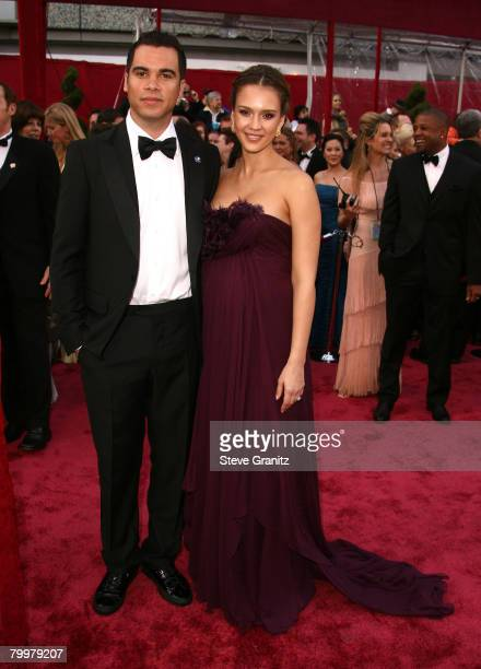 Actress Jessica Alba and Cash Warren attends the 80th Annual Academy Awards at the Kodak Theatre on February 24 2008 in Los Angeles California