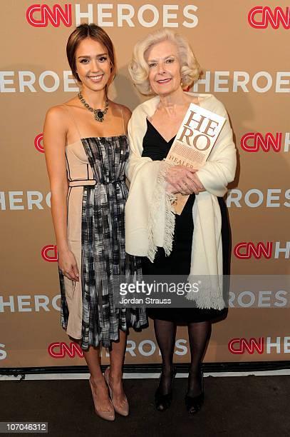 Actress Jessica Alba and CNN Hero Guadalupe Arizpe de la Vega of ÒHospital de la FamiliaÓ attend the 2010 CNN Heroes: An All-Star Tribute held at The...
