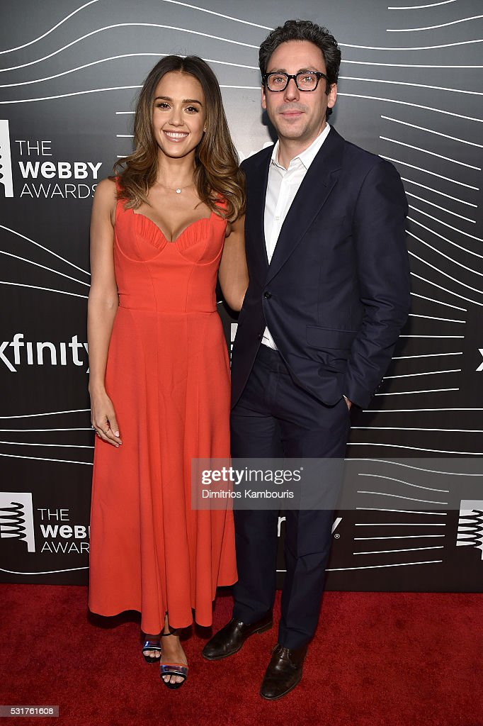 Actress Jessica Alba and co-founder Warby Parker Neil Blumenthal attend the 20th Annual Webby Awards at Cipriani Wall Street on May 16, 2016 in New York City.