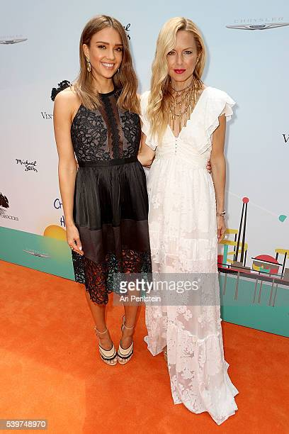 Actress Jessica Alba and Designer Rachel Zoe arrive at Children Mending Hearts and Vintage Grocers Presents the 8th Annual Empathy Rocks on June 12...