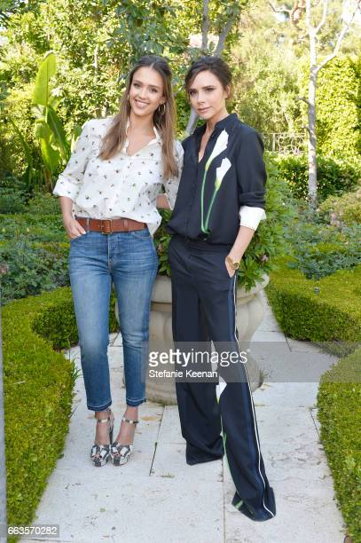 Actress Jessica Alba and designer Victoria Beckham attend the Victoria Beckham for Target Launch Event on April 1 2017 in Los Angeles California
