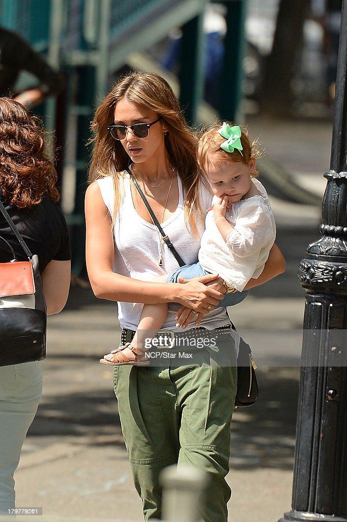Actress Jessica Alba and Haven Warren is seen on September 6, 2013 in New York City.