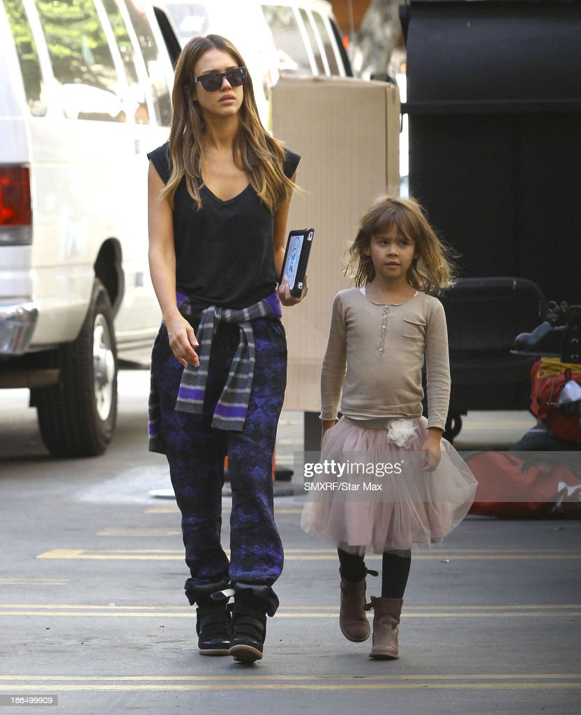 Actress Jessica Alba and Honor Warren are seen on October 31, 2013 in Los Angeles, California.