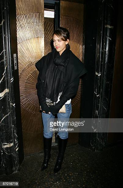 Actress Jessica Alba arrives at Crown Royal and Tab Energy Drink's Cool Down Post Award Season Party hosted by director Paul Haggis and...