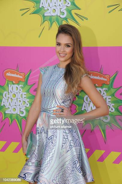 US actress Jessica Alba arrives at Nickelodeon's 26th Annual Kids' Choice Awards at USC Galen Center in Los Angeles USA on 23 March 2013 Photo Hubert...