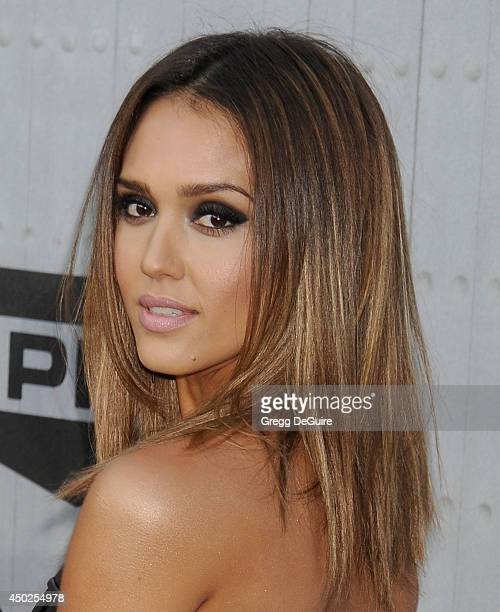 Actress Jessica Alba arrives at Spike TV's 'Guys Choice' Awards at Sony Studios on June 7 2014 in Los Angeles California