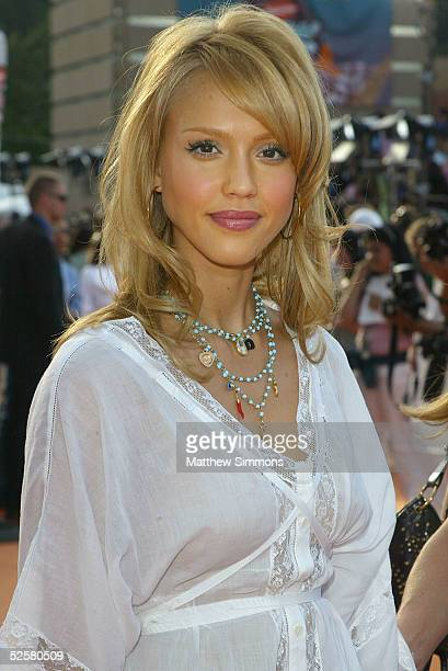 Actress Jessica Alba arrives at the 18th Annual Kids Choice Awards at UCLA's Pauley Pavillion on April 2 2005 in Westwood California