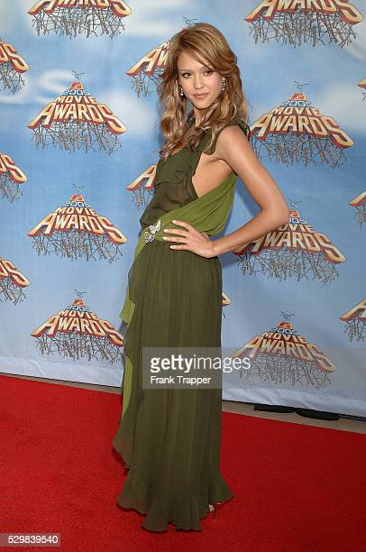 Actress Jessica Alba arrives at the 2005 MTV Movie Awards held at the Shrine Auditorium