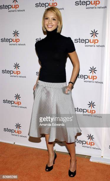Actress Jessica Alba arrives at the 2005 Step Up Women's Network Inspiration Awards Luncheon at The Beverly Hilton on April 22 2005 in Beverly Hills...