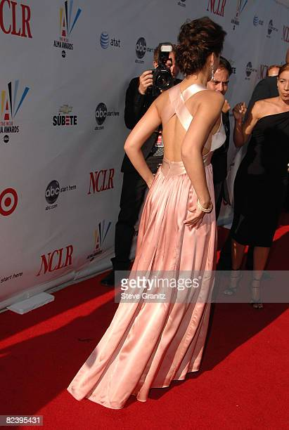 Actress Jessica Alba arrives at the 2008 ALMA Awards at the Pasadena Civic Auditorium on August 17 2008 in Pasadena California