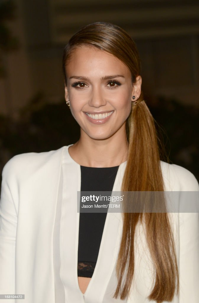 Actress Jessica Alba arrives at the 22nd Annual Environmental Media Awards on Saturday Sept. 29, 2012, at Warner Bros. Studios in Burbank, Calif.
