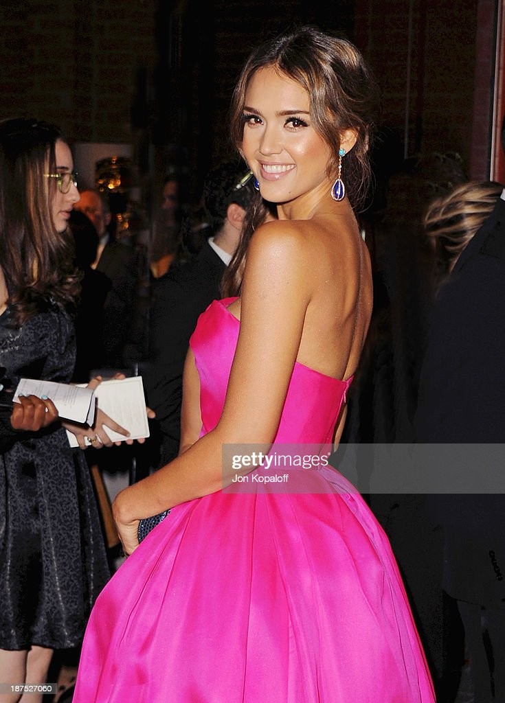 Actress Jessica Alba arrives at the 2nd Annual Baby2Baby Gala at The Book Bindery on November 9, 2013 in Culver City, California.