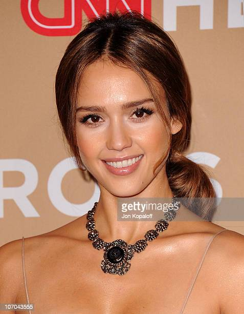 Actress Jessica Alba arrives at the 4th Annual CNN Heroes An All Star Tribute at The Shrine Auditorium on November 20 2010 in Los Angeles California
