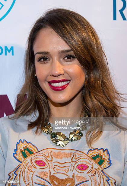 Actress Jessica Alba arrives at The Beverly Hills Chamber Of Commerce's EXPERIENCE East Meets West event at Crustacean on February 5 2014 in Beverly...