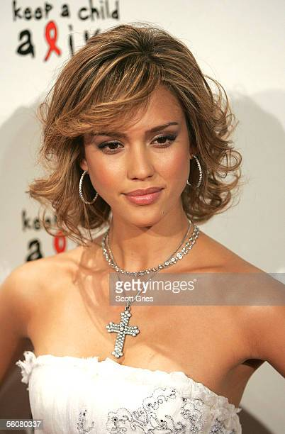 """Actress Jessica Alba arrives at the Keep a Child Alive Annual Fundraiser """"The Black Ball"""" at Frederick P. Rose Hall at Lincoln Center November 3,..."""